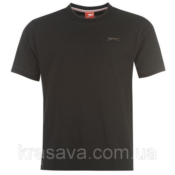 Футболка мужская Slazenger, оригинал, черная,  M/48