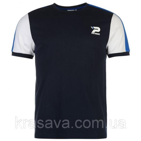Футболка мужская Patrick, оригинал, темно-синий,  XL/52