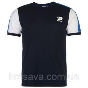 Фото Мужская футболка, майка, поло Футболка мужская Patrick, оригинал, темно-синий,  XL/52