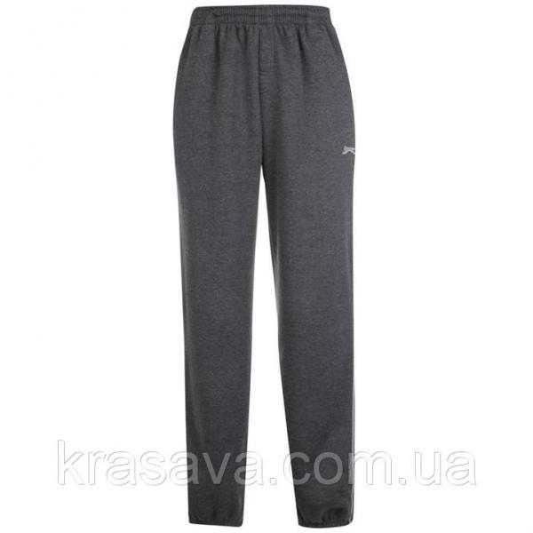 Спортивные штаны мужские на флисе Slazenger, оригинал, темно-серые,  M/48