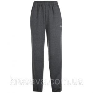 Фото Мужские спортивные штаны Спортивные штаны мужские на флисе Slazenger, оригинал, темно-серые,  M/48