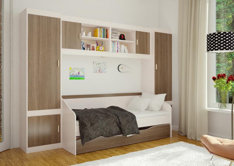Фото Детская мебель Кровать Паскаль с выкатным спальным местом (БТС)