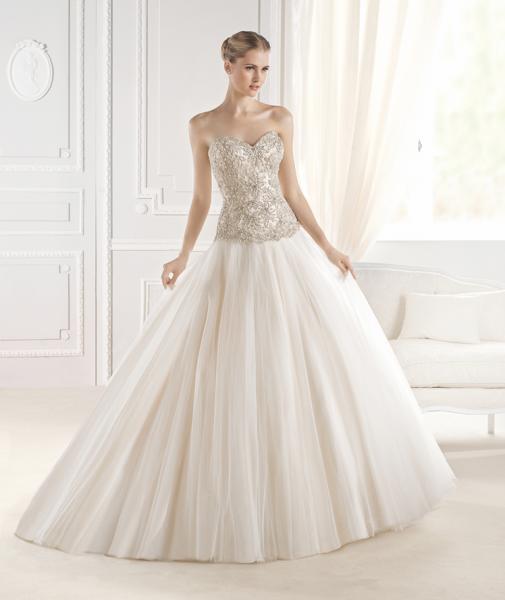 Расшитое Свадебное платье со шлейфом Eriadu