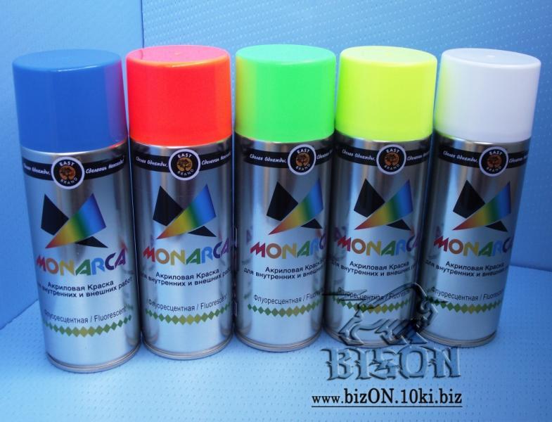 Флуоресцентная быстросохнущая аэрозольная акриловая краска
