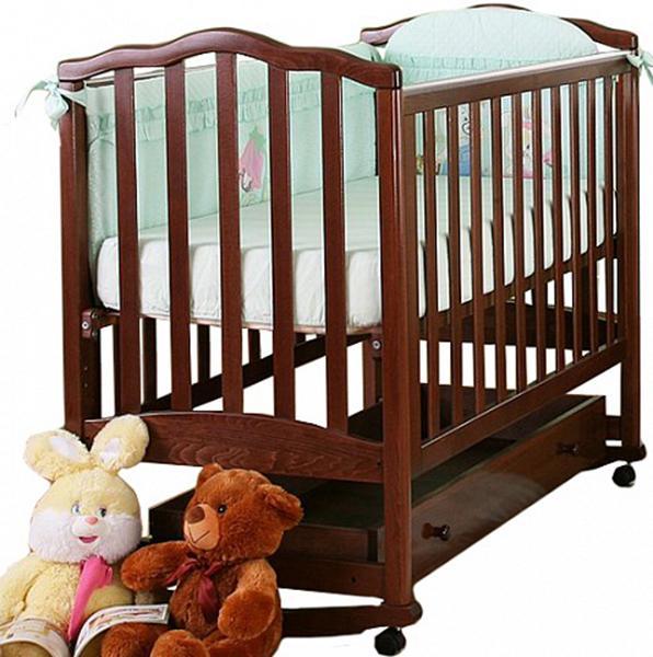 Детская кроватка Кубаньлесстрой Жасмин АБ 19.1 колесо-качалка 120x60 см