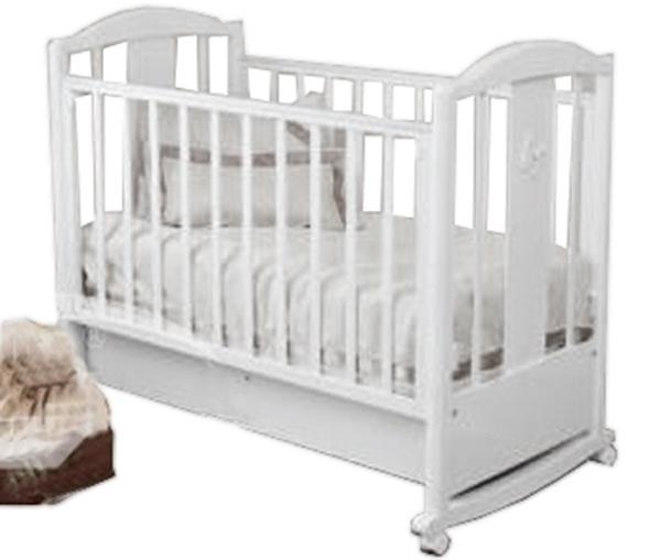 Детская кроватка Красная Звезда Янина С-564 колесо-качалка 120x60 см
