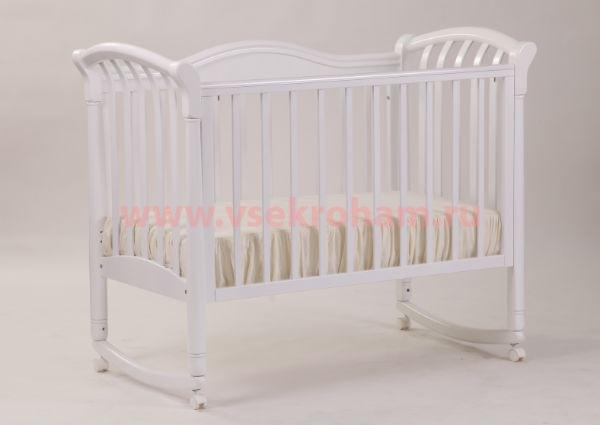 Детская кроватка Кубаньлесстрой Азалия БИ 10.0 качалка 120x60 см