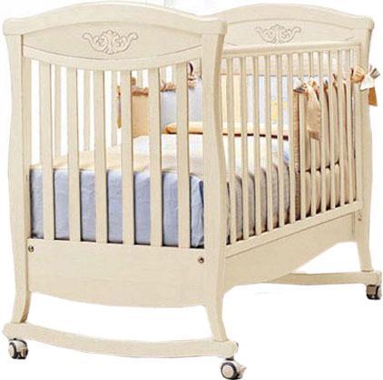Детская кроватка Bambolina Principessa Cristallo качалка-колесо 125x65 см