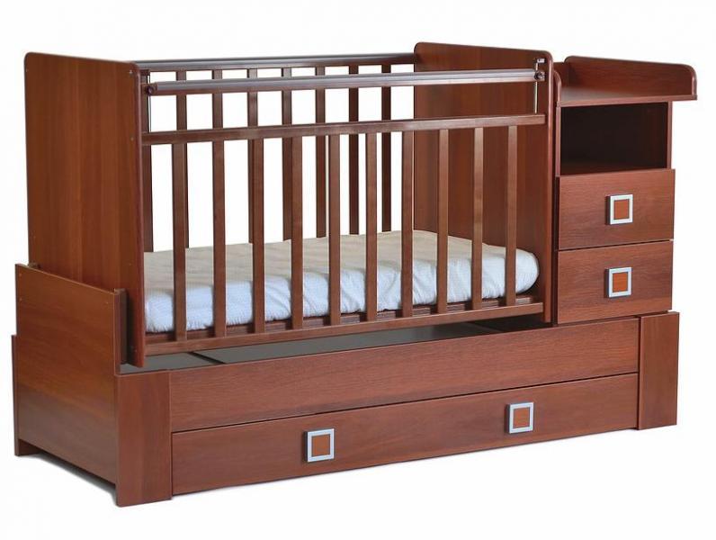 Детская кроватка-трансформер СКВ-8 (маятник поперечный)