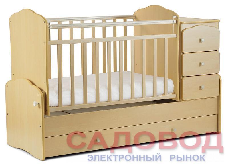 Детская кроватка-трансформер СКВ-9 (маятник поперечный)
