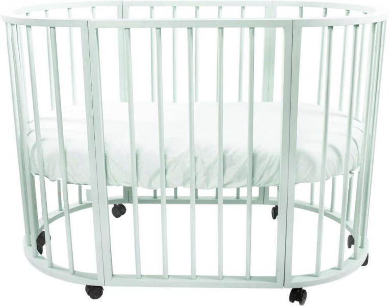 Детская кроватка-трансформер овальная Valle Bianca 4 в 1