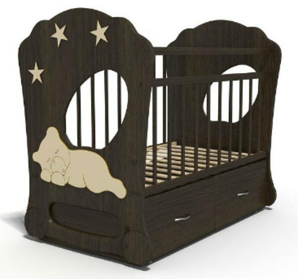 Детская кроватка Бэби Элит Спящий Мишка 120x60 см