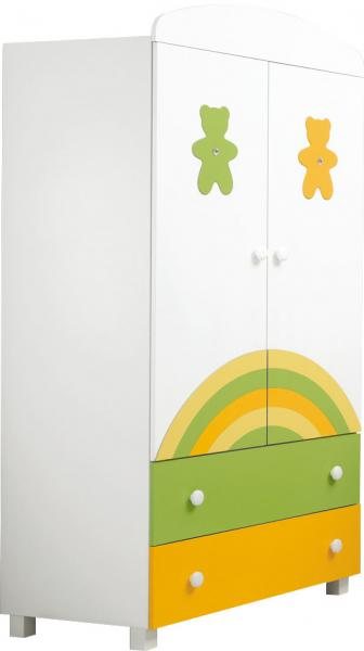 Детский шкаф Mibb Amici Orsi Colorato