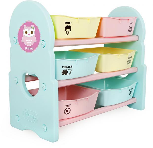 Детский стеллаж для игрушек iFam Briring-3