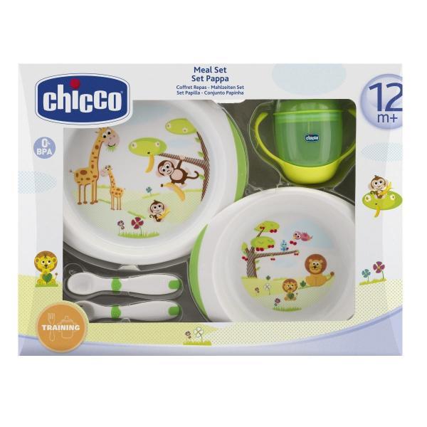 Набор детской посуды в коробке Chicco 12+, зеленый