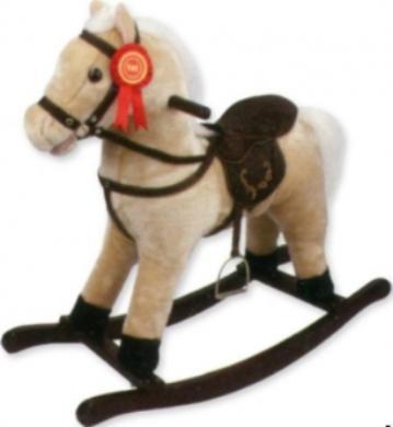 Детская качалка Jolly Ride меховая Лошадка