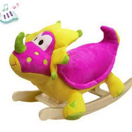Детская качалка Felice Розовый Динозаврик музыкальная