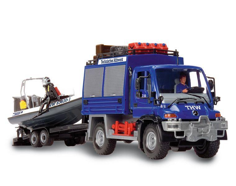Служба спасения Dickie грузовик+катер