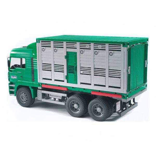 Фургон Bruder Man для перевозки животных с коровой