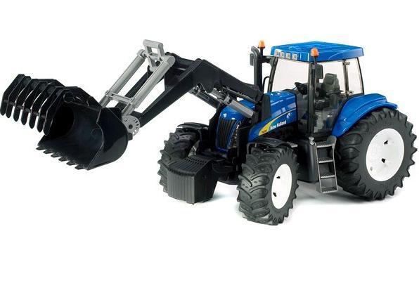 Трактор Bruder New Holland T8040 с погрузчиком