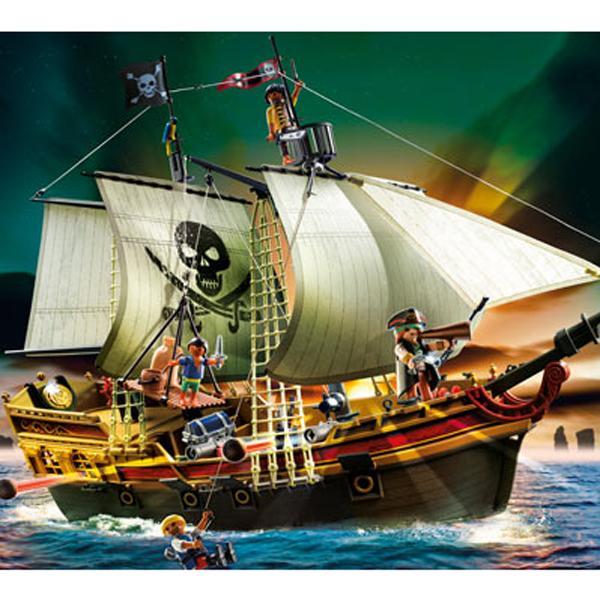 Детская игрушка Playmobil Пираты: Пиратский штурмовой корабль