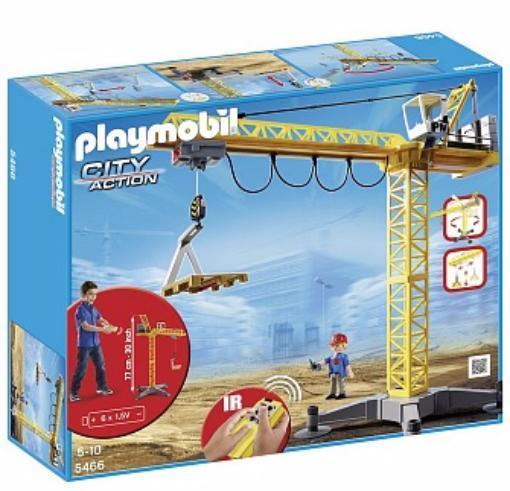 Детская игрушка Playmobil Стройка: Большой строительный кран на инфракрасном управлении