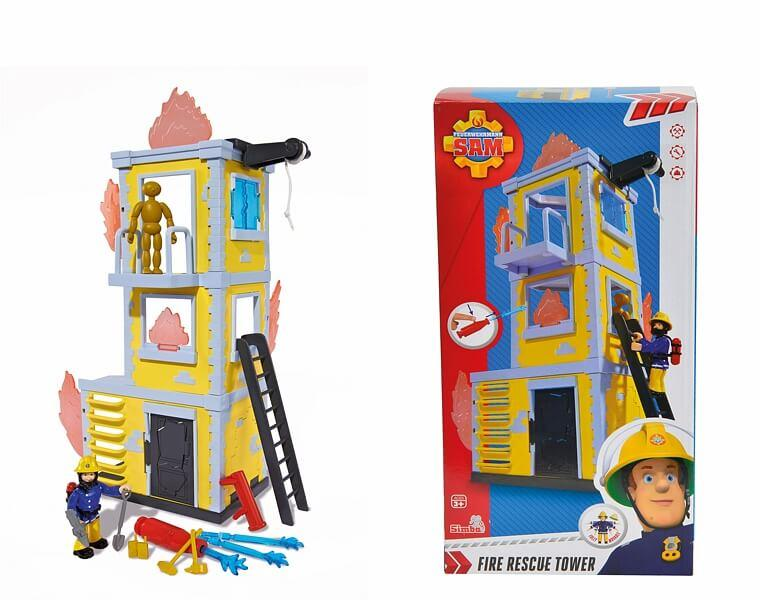 Пожарный Сэм Simba Большая тренировочная база с фигуркой, 42см