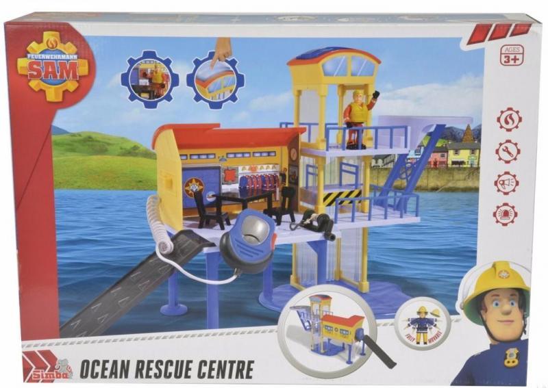 Пожарный Сэм Simba Фигурка и морская станция