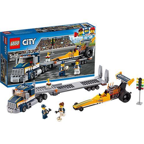 Конструктор Lego City Грузовик для перевозки драгстера 60151 (44987)