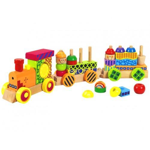 Детская игрушка паровозик Eichhorn со звуком и светом
