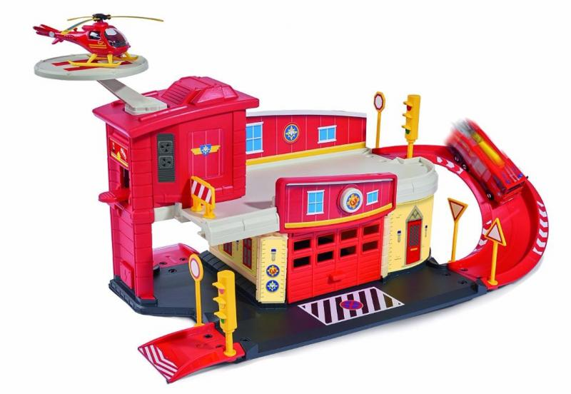 Пожарный Сэм Dickie Пожарный гараж+вертолет