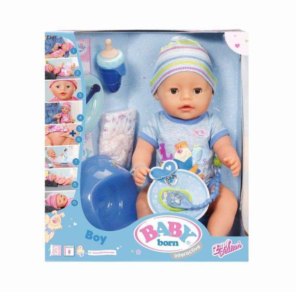 Кукла Zapf Creation Baby born мальчик интерактивная, 43 см 593464