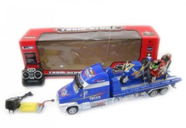 Радиоуправляемая игрушка Грузовик д/у +2 мотоцикла 789-02FE синий