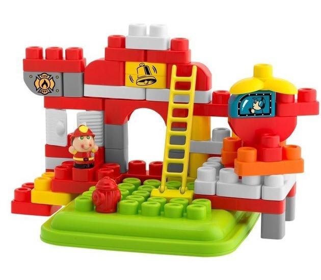 Игрушка Chicco Набор строительных блоков Пожарная станция (70 дет.)
