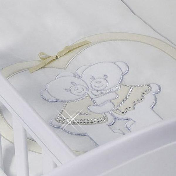 Комплект в люльку Feretti Baby Beddings Culla Gemelli Doppio Nido Enchant для двойни