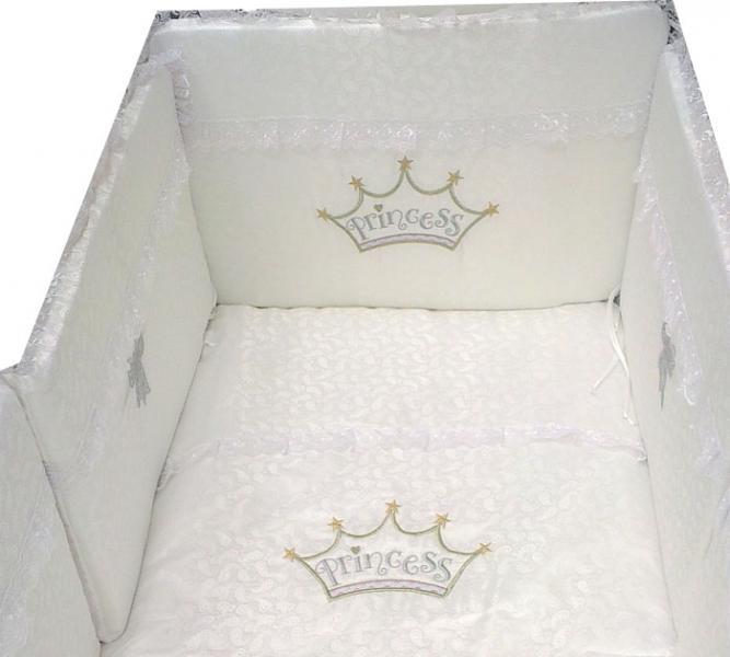 Комплект в кроватку Eco Line Fabric Принцесса премиум 6 предметов
