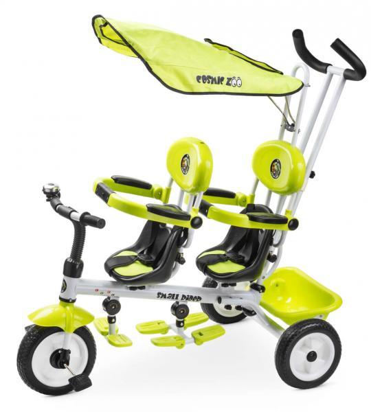 Трехколесный велосипед Small Rider Cosmic Zoo Twins для двоих детей, двойни, погодков