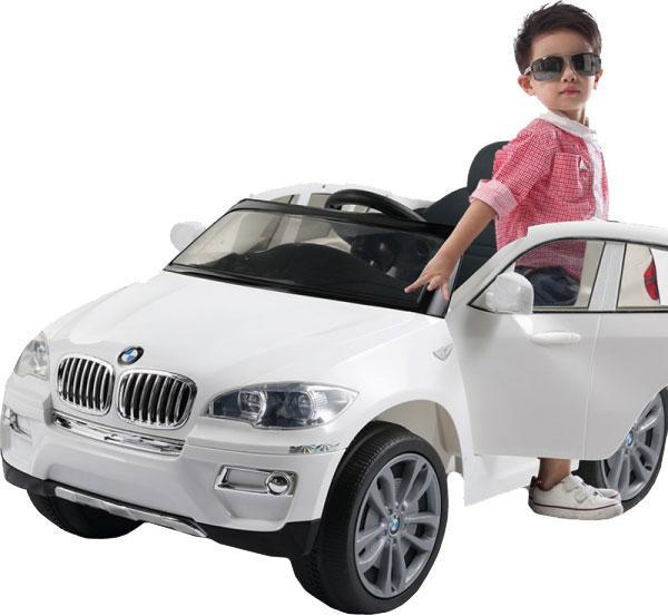 Детский электромобиль Barty BMW X6 JJ258 кожаное сидение