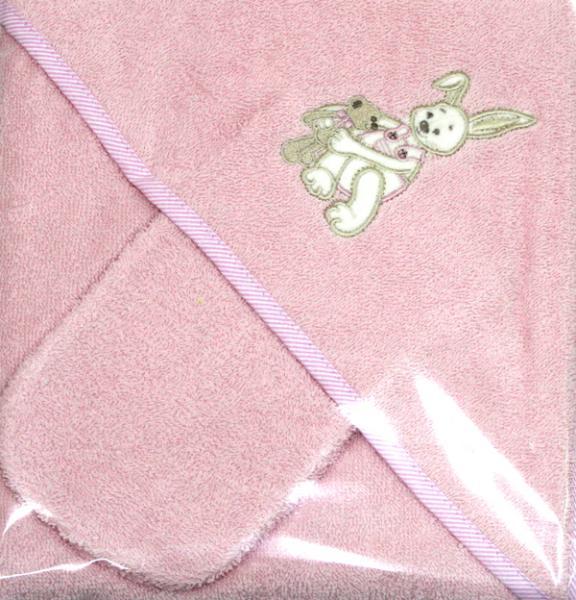 Полотенце-уголок Womar Zaffiro с мочалкой 85х85 см.