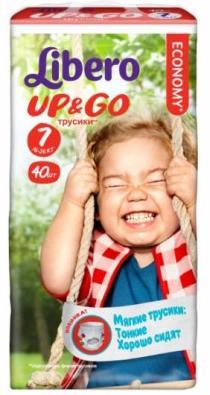 Трусики Libero Up&Go (7) 16-26кг 40шт