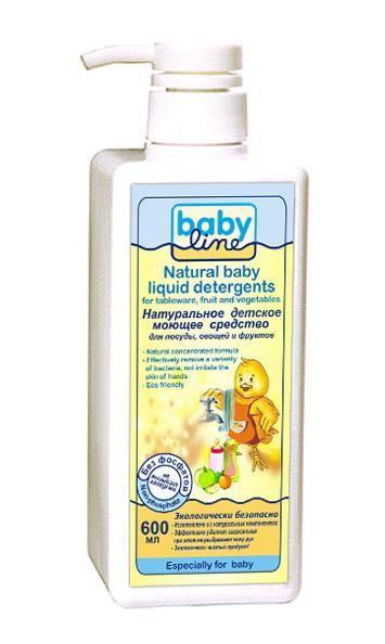 Моющее средство Babyline для посуды, овощей и фруктов с дозатором 600 мл.