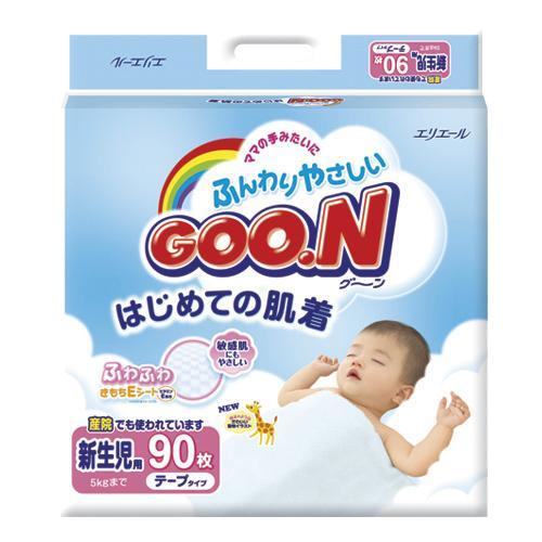 Подгузники Goon Newborn 0-5кг 90шт