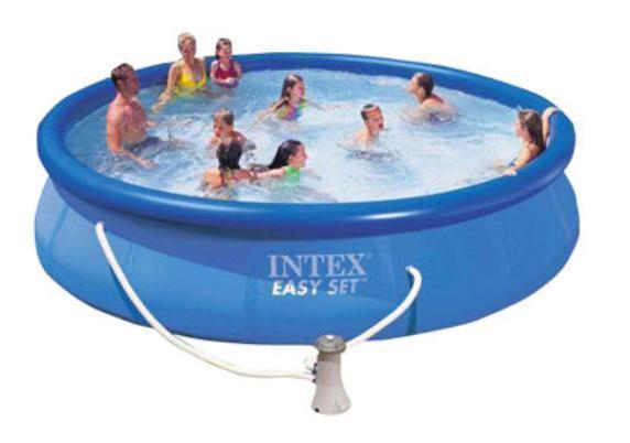 Надувной бассейн изи сет Intex 457х91х91см.(насос-фильтр,лест.,настил,тент...) 220в. с54914