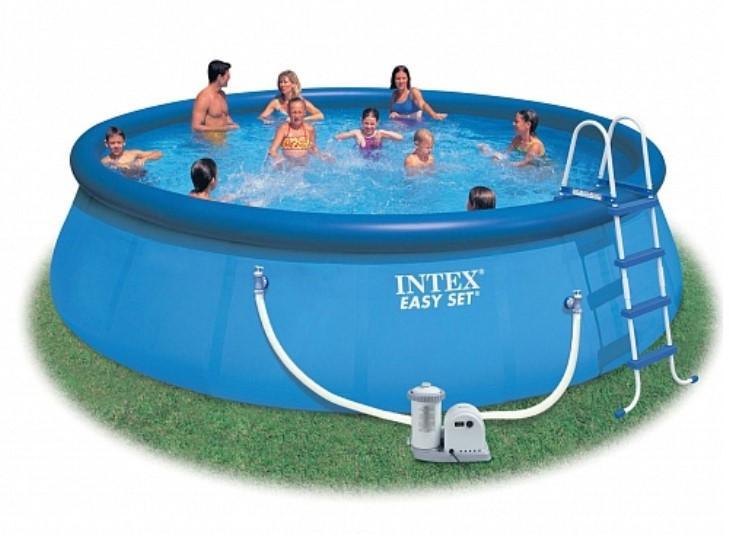 Надувной бассейн изи сет Intex 549х122см наб.(видео,насос-фильтр,лест) 220в. с56905