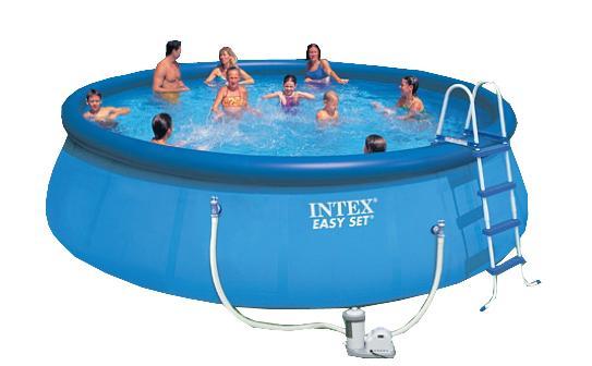 Надувной бассейн изи сет Intex 549х122см. (видео,насос-фильтр,лест.,настил,тент...) 220в. с54920