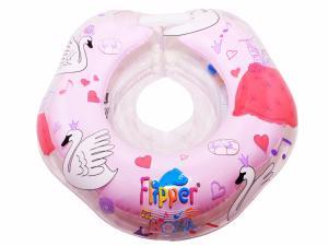 Фото Игрушки для купания Flipper Swan Lake Мusic - круг на шею для купания малышей
