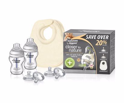 Начальный комплект для новорожденного с антиколиковыми бутылочками (.) Tommee tippee