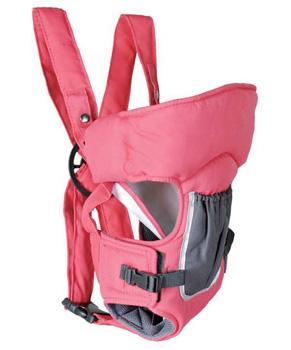 Приспособление для переноски детей 05BD02 (розовый с серым карманом) Geoby