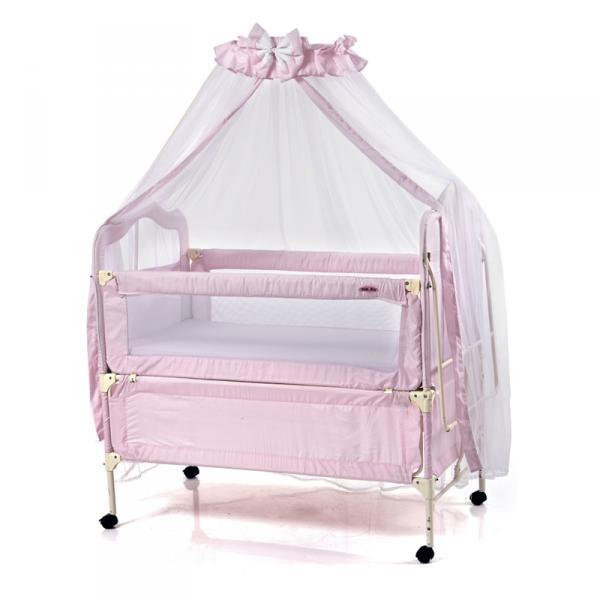 Кроватка 05TLY900 (розовый) Geoby
