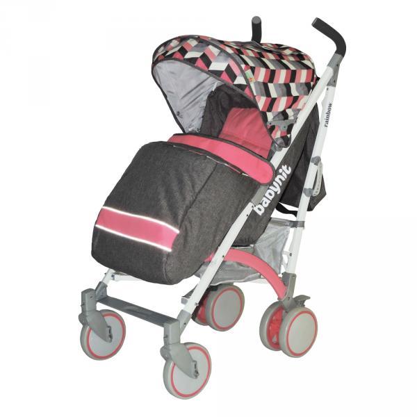 Коляска RAINBOW (розовый с серым) Babyhit